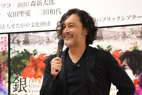 「The Silver Tassie 銀杯」制作発表会より、横田栄司。