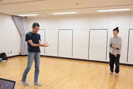 第17回AAF戯曲賞受賞記念公演「シティIII」稽古場より。(撮影:前谷開)
