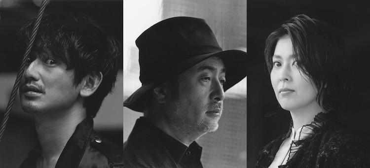 「世界は一人」ビジュアル。左から瑛太、松尾スズキ、松たか子。(c)パルコ