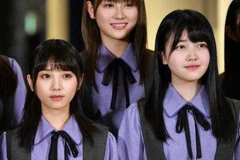 前列左から与田祐希(乃木坂46)、久保史緒里(乃木坂46)。