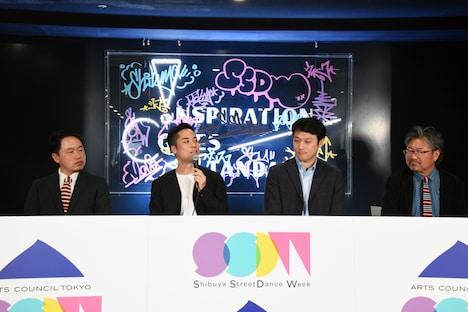 「Shibuya StreetDance Week 2018」取材会より。