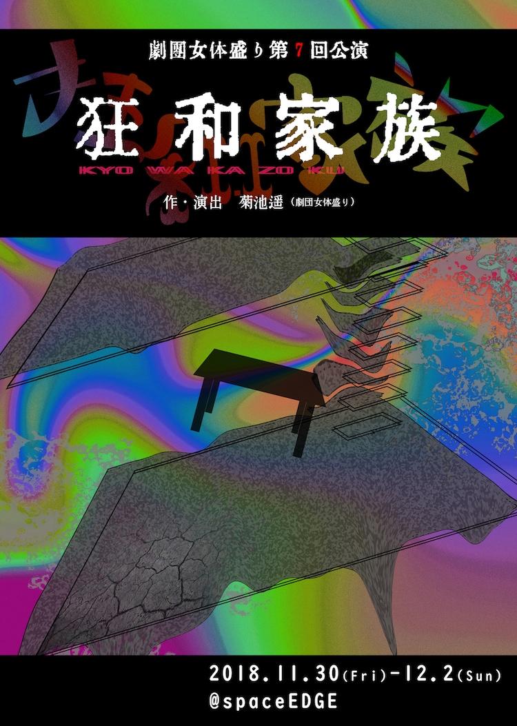 劇団女体盛り 第7回公演「狂和家族」チラシ表