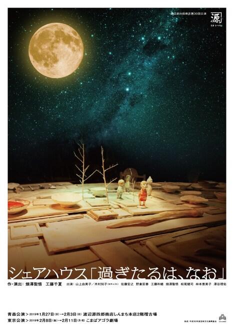 渡辺源四郎商店「シェアハウス『過ぎたるは、なお』」チラシ表
