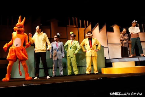 舞台「もーれつア太郎 木枯らしに踊る花吹雪」ゲネプロより。