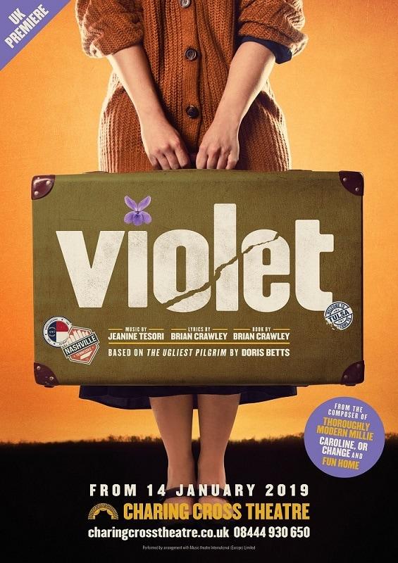 ミュージカル「VIOLET」ロンドン公演のビジュアル。