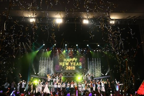 「STAGE FES 2018」より、2019年を迎えた会場の様子。