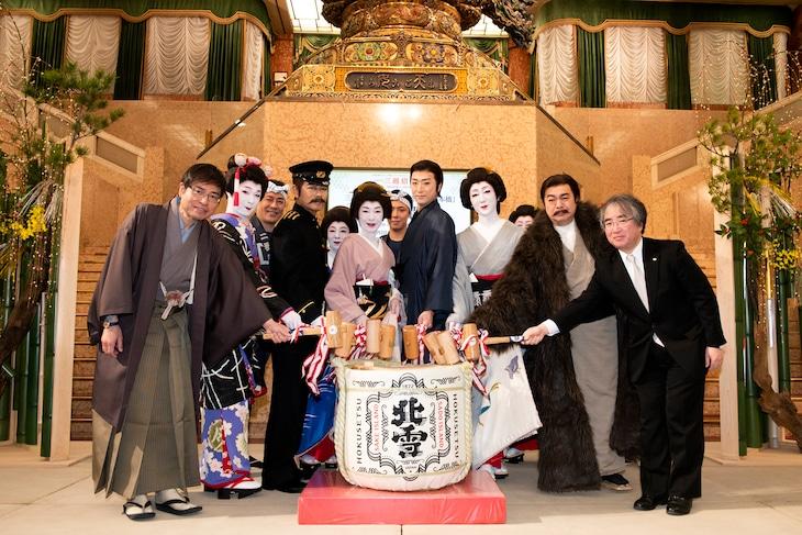 初春花形新派公演「日本橋」鏡開きより。