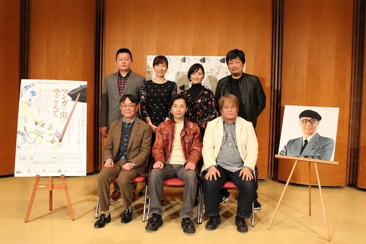 兵庫県立ピッコロ劇団第63回公演 / ピッコロシアタープロデュース「マンガの虫は空こえて」製作発表会見より。