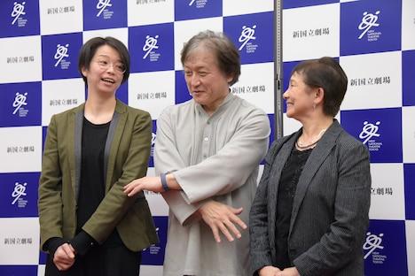 左から小川絵梨子、大野和士、大原永子。