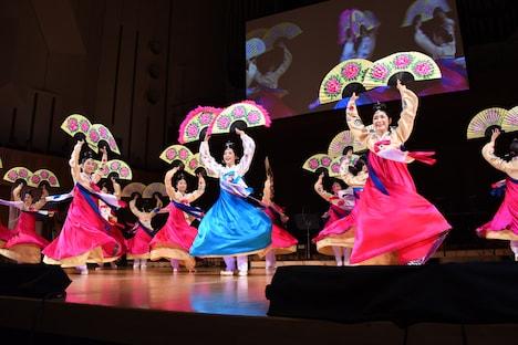 仁川市立舞踊団によるパフォーマンスの様子。