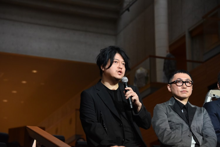 左から渋谷慶一郎、増井健仁。