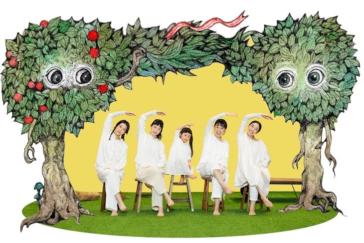 「めにみえない みみにしたい」宣伝ビジュアル(宣伝美術:名久井直子、宣伝イラスト:ヒグチユウコ、宣伝写真:井上佐由紀)