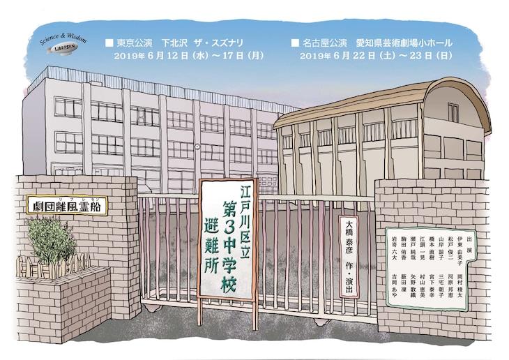 劇団離風霊船「江戸川区立第3中学校避難所」チラシ表