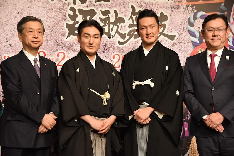 南座新開場記念「八月南座超歌舞伎」製作発表より。