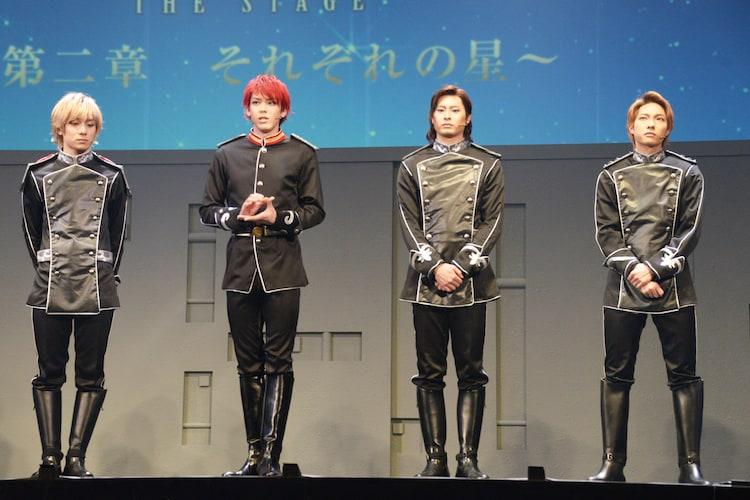 左から永田聖一朗、加藤将、畠山遼、釣本南。