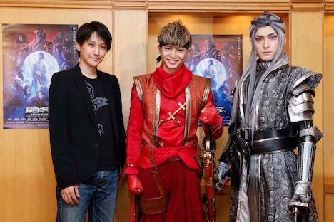 左から元吉庸泰、佐藤大樹(EXILE / FANTASTICS from EXILE TRIBE)、増田俊樹。
