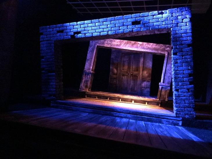 「箱庭演劇祭」舞台美術の模型。