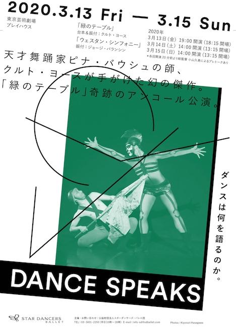 スターダンサーズ・バレエ団公演「Dance Speaks」チラシ表