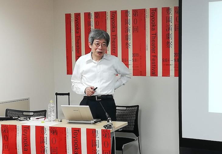 「第0回豊岡演劇祭 Toyooka Theater Festival」に関する記者会見より。平田オリザ。