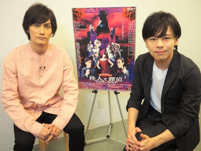 CSテレ朝チャンネル1「プリンスロード VOL.2 ~2019-2020 ミュージカル大辞典~」より、左から中川晃教、加藤和樹。
