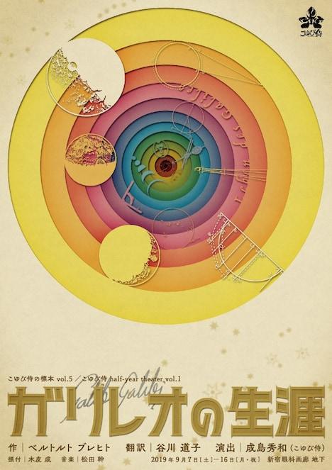 こゆび侍の標本 vol.5 / こゆび侍 half-year theater vol.1「ガリレオの生涯」チラシ表