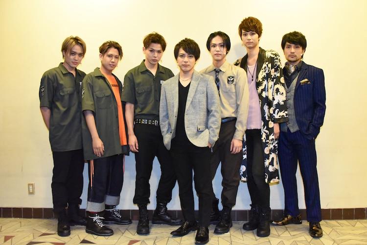 「『GRIEF7』Sin#2」の出演者。左から吉田広大、SHUN、加藤良輔、米原幸佑、三浦海里、中山優貴、倉貫匡弘。