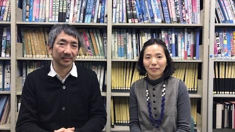 左から松田正隆、金澤菜乃英。