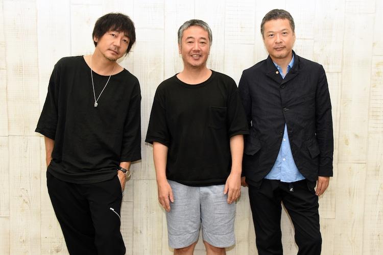 コムレイドプロデュース公演「神の子」合同取材会より。左から大森南朋、赤堀雅秋、田中哲司。