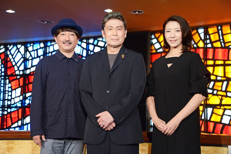 左から駒田一、松本白鸚、瀬奈じゅん。