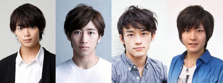 11月3日公演の出演者。左から溝口琢矢、納谷健、五十嵐雅、永塚拓馬。