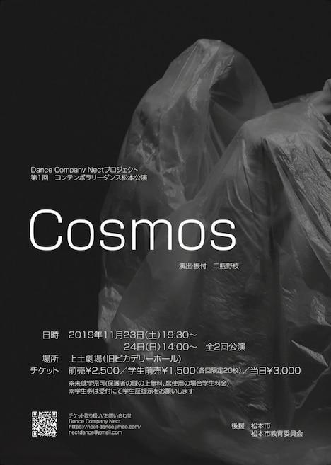 Dance Company Nectプロジェクト 第1回 コンテンポラリーダンス松本公演「Cosmos」チラシ表