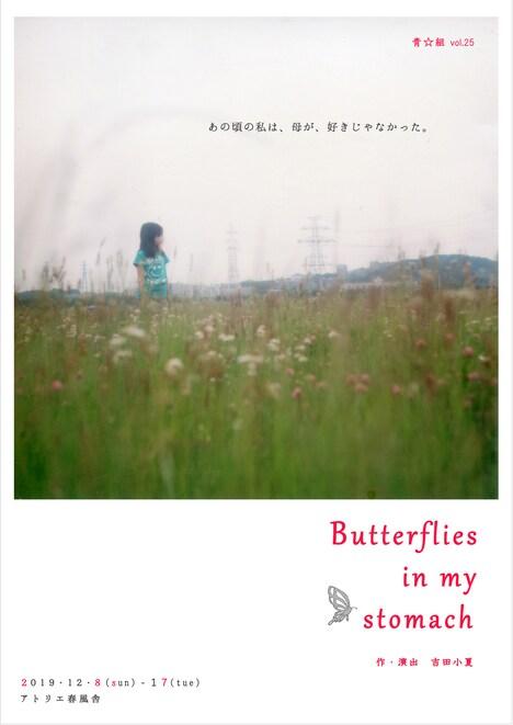 青☆組 vol.25「Butterflies in my stomach」チラシ表