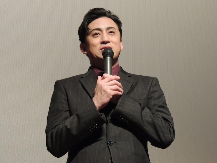 シネマ歌舞伎「女殺油地獄」舞台挨拶より。松本幸四郎。