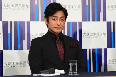 システィーナ歌舞伎「NOBUNAGA」製作発表より、片岡愛之助。