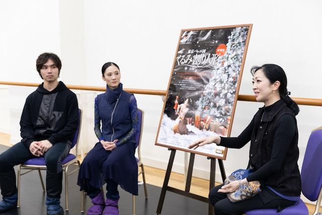 左から柄本弾、川島麻実子、斎藤友佳理。(Photo by Shoko Matsuhashi)