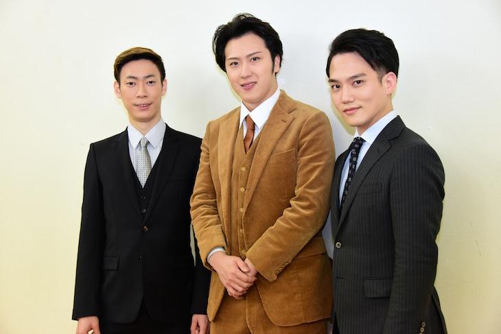 左から坂東巳之助、尾上松也、中村歌昇。