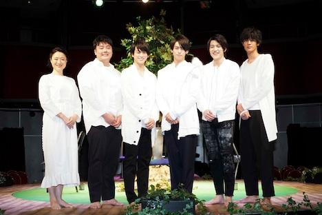左から、しゅはまはるみ、近藤廉、眞嶋秀斗、高野洸、松村優、遠藤史也。