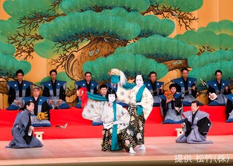 「壽 初春大歌舞伎」夜の部「澤瀉十種の内 連獅子」より。