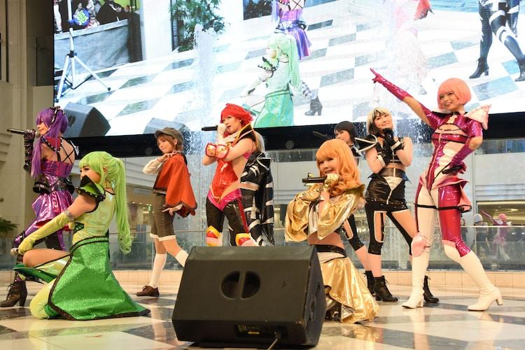 舞台「Cutie Honey Emotional」製作発表で披露されたパフォーマンスの様子。