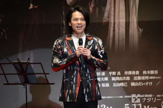 ミュージカル「チェーザレ 破壊の創造者」製作発表より、中川晃教。