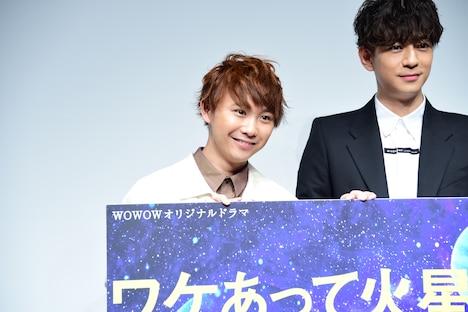 左から須賀健太、三浦翔平。