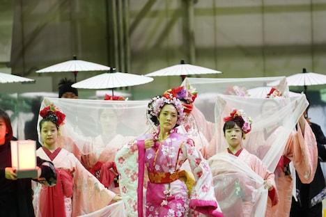 「イマーシブシアター『サクラヒメ』 ~『桜姫東文章』より~」稽古の様子。(Photo by DAZZLE)