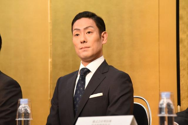 「明治座 三月花形歌舞伎」製作発表より、中村勘九郎。