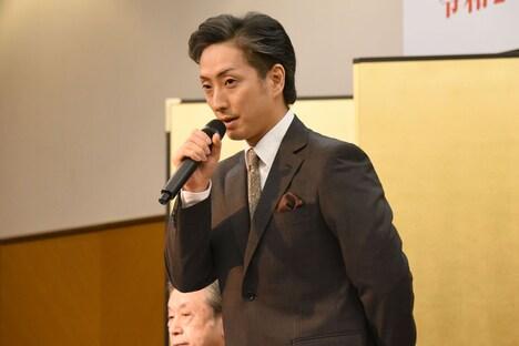 「明治座 三月花形歌舞伎」製作発表より、中村七之助。