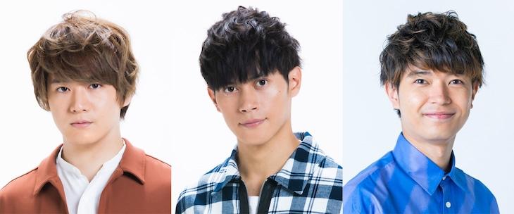 左から冨岡健翔(ジャニーズJr.)、福士申樹(ジャニーズJr.)、高田翔(ジャニーズJr.)。