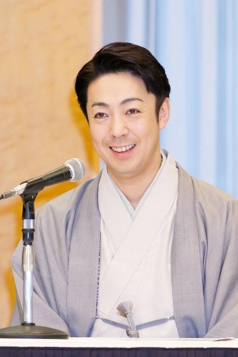 令和2年3月歌舞伎公演「通し狂言 義経千本桜」取材会より、尾上菊之助。(提供:国立劇場)