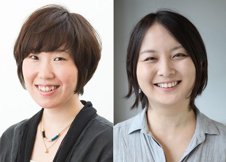 左から長田育恵、瀬戸山美咲。