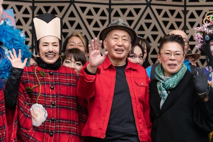 WAHAHA本舗PRESENTS WAHAHA本舗全体公演「王と花魁」記者発表イベントより。