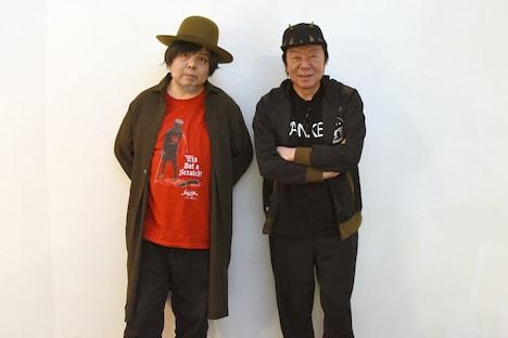 cube presents「欲望のみ」取材会より、左からケラリーノ・サンドロヴィッチ、古田新太。