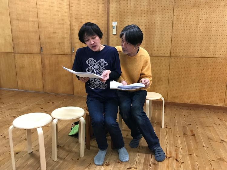 渡辺源四郎商店第33回公演Presents うさぎ庵Vol.14「コーラないんですけど」稽古の様子。